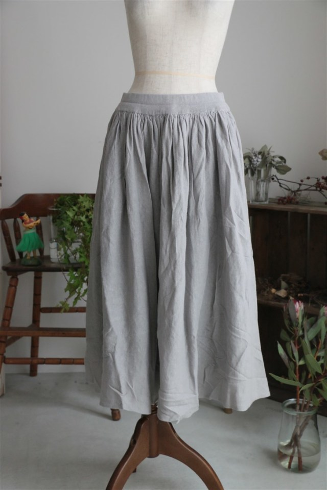 <SALE>G171 Gauze コットンリネンリバーシブルスカート