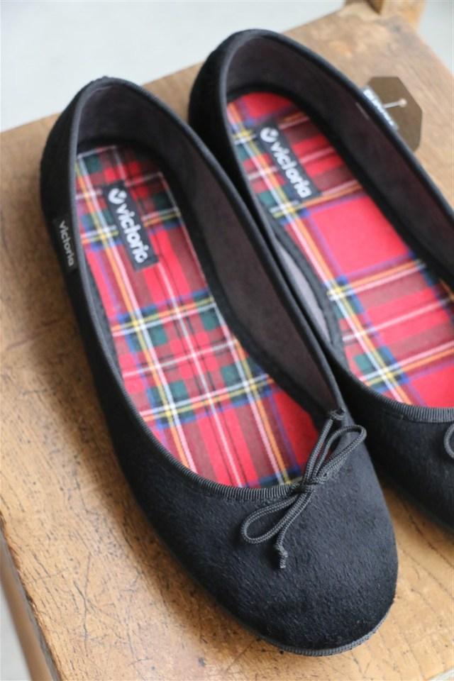 <SALE>AW187 VICTORIA Ballerina Velvet Shoes Adult 2色