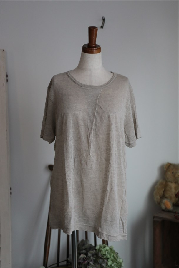 <SALE>12132161 vlas blomme タック入り半袖Tシャツ