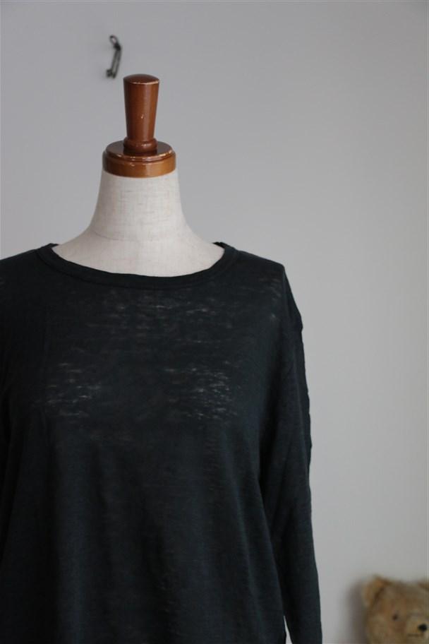 <SALE>12132361 vlas blomme 七分袖Tシャツ 2色