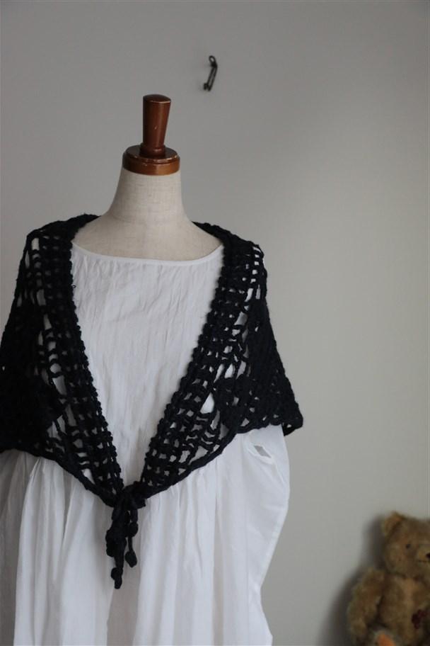 <SALE>11604141 vlas blomme crochet stole