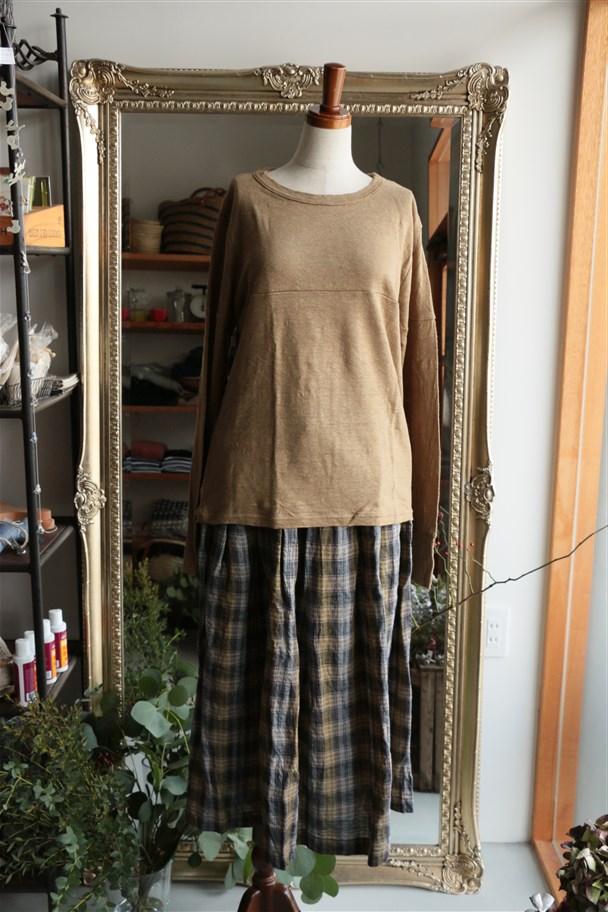 <SALE>13527861 vlas blomme ヒモ付ギャザースカート 2色