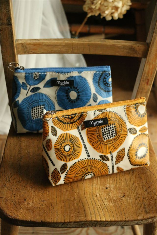 096M005141 marble SUD OX FLOWER POUCH 2色