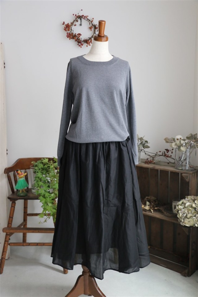 <SALE>G151 Gauze コットンギャザースカート 2色