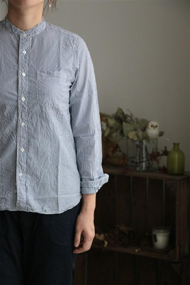 72061 FABRIQUE en planete terre stand collar shirt 3色