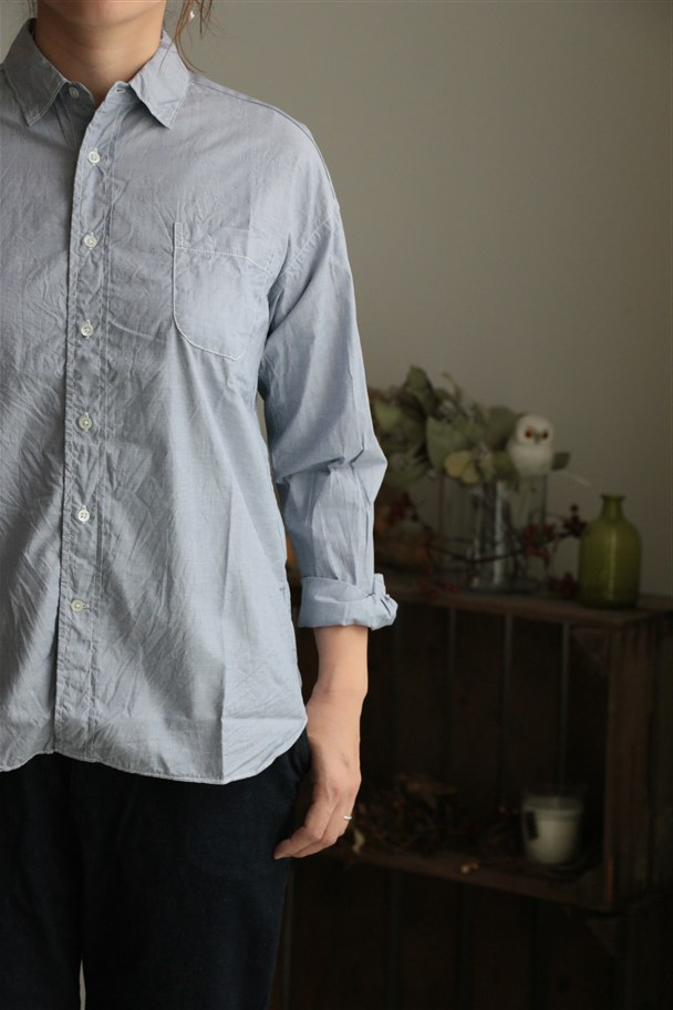 72063  FABRIQUE en planete terre over saize shirt 3色