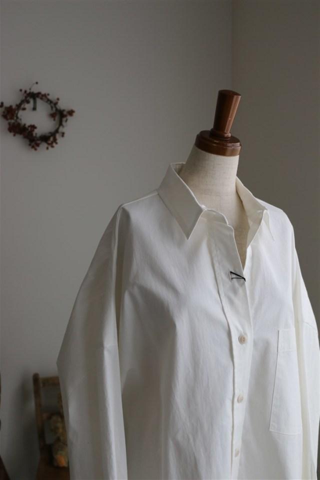<SALE>1-236514 mizuiro-ind wide shirt 2色