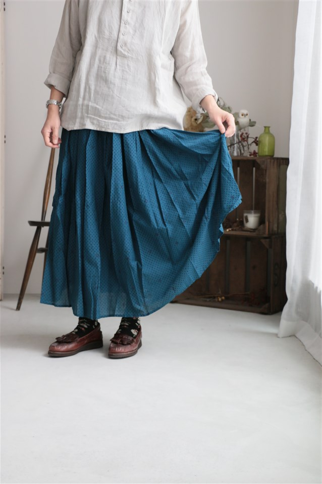 NMDS17604 MAISON DE SOIL RAJASTHAN TUCK GATHERED SKIRT