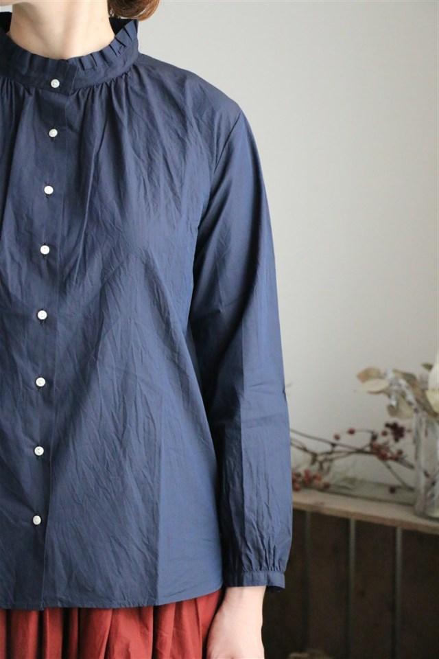 82163 FABRIQUE en planete terre tuck neck blouse 3色