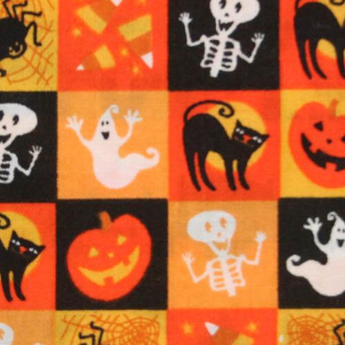 【国産】Halloween柄 50x55cm (JHW-002) カラーバリエーション