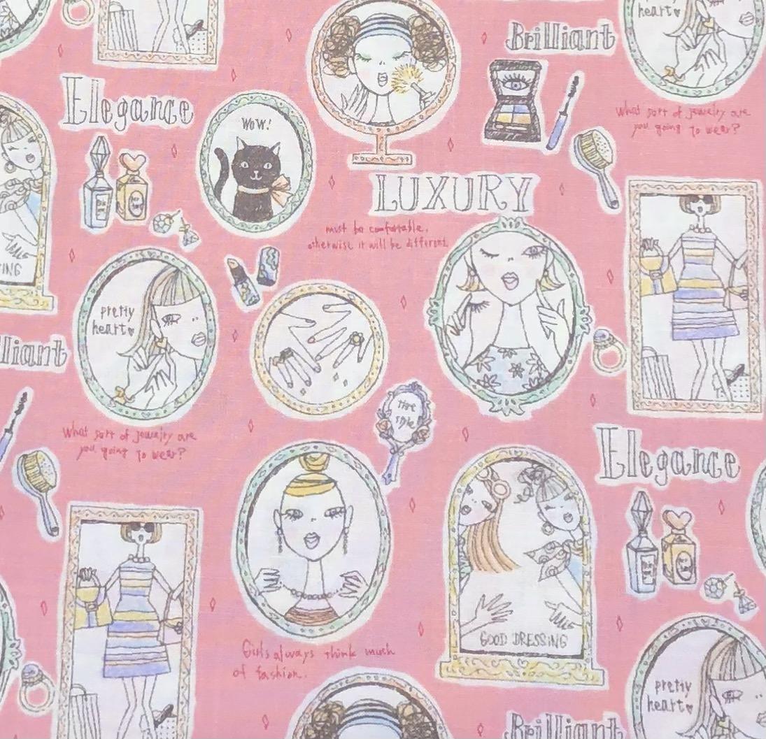 【国産デザインプリント】(JOM-005)ピンク