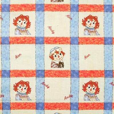 【国産】Raggedy Ann & Andy 50x55cm (JRA-006)