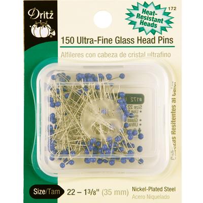 【Dritz】150 Ultra-Fine Glass Head Pins グラスヘッドピン -まち針- (NOT-097)