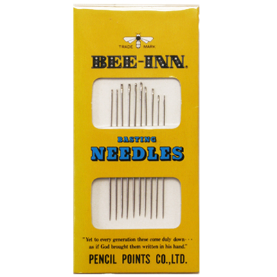 【BEE-INN】 BASTING NEEDLES -しつけ針 3種類 10本入り- (NOT-101)
