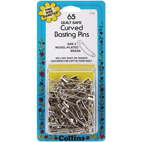 【Curved Basting Pins】 カーブピン(大) 65個入り (NOT-172)