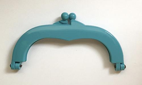 【プラスチック口金】14cm×7.5cm ブルー(NOT-207)
