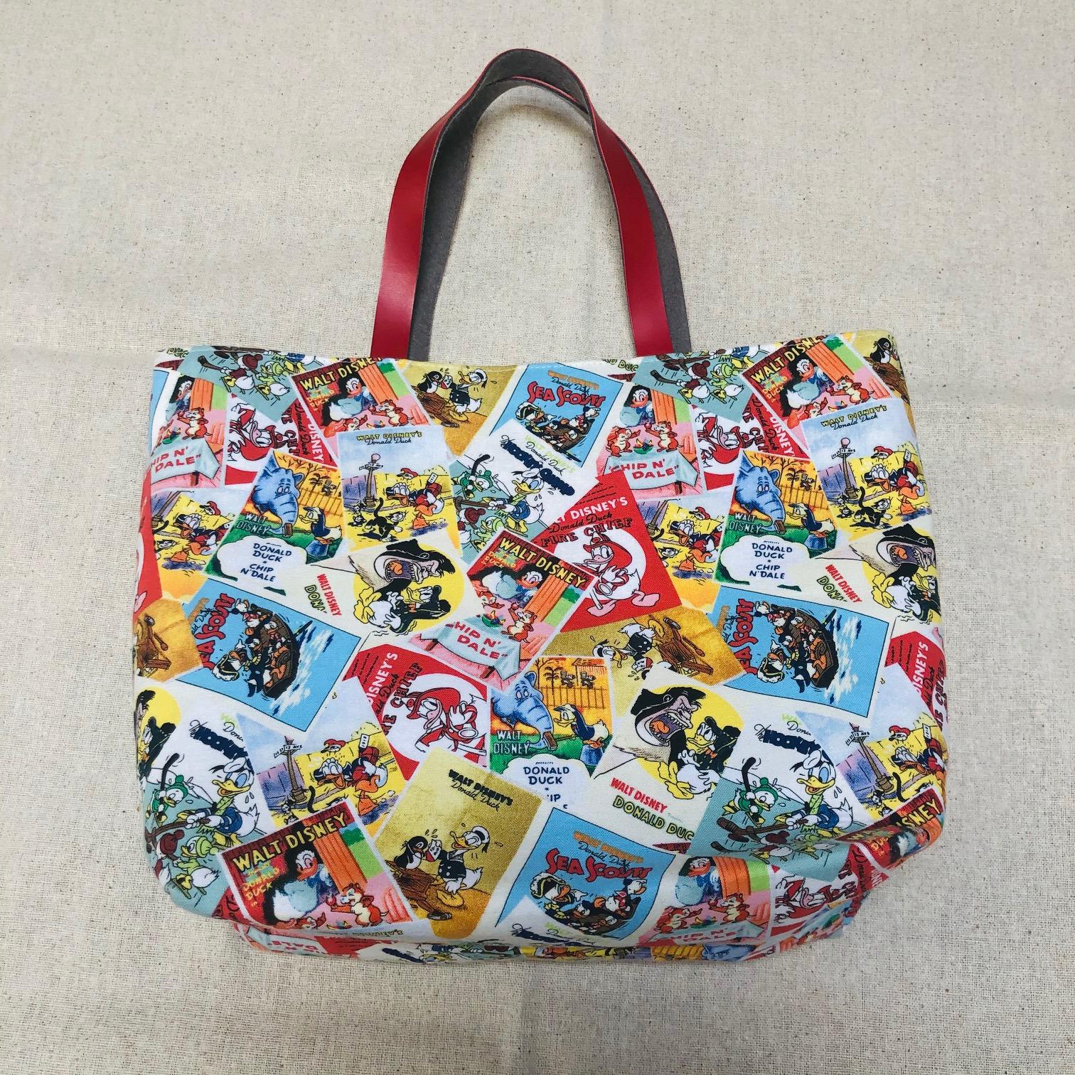 【ディズニー ミニトートバッグのレシピ付き】布セット  (S-015)