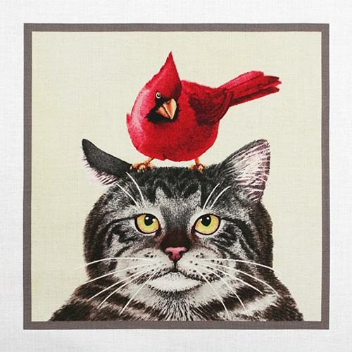 【猫柄パネルプリント】 60x110cm (UCT-201) カラーバリエーション