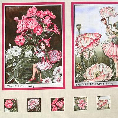 【Flower Fairies】フラワーフェアリー パネルプリント 60×110cm(UFF-009)