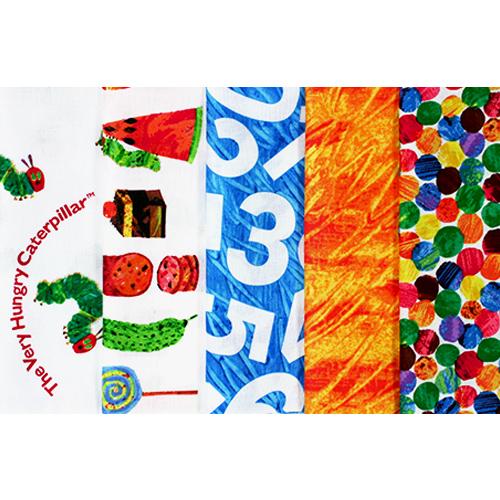 【はらぺこあおむし - USAコットン - 】ミニサイズカット5柄セット - コップ袋のレシピ付き - (UHC-SET008)