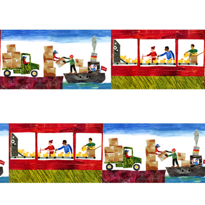 【10 Little Rubber Ducks】10このちいさなおもちゃのあひる 120x55cm(ULD-003)