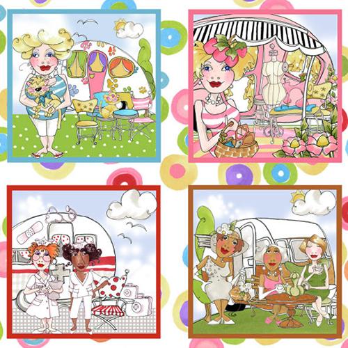 【Loralie Designs】- Vintage Holiday Panel - 60x110cm (ULH-114)