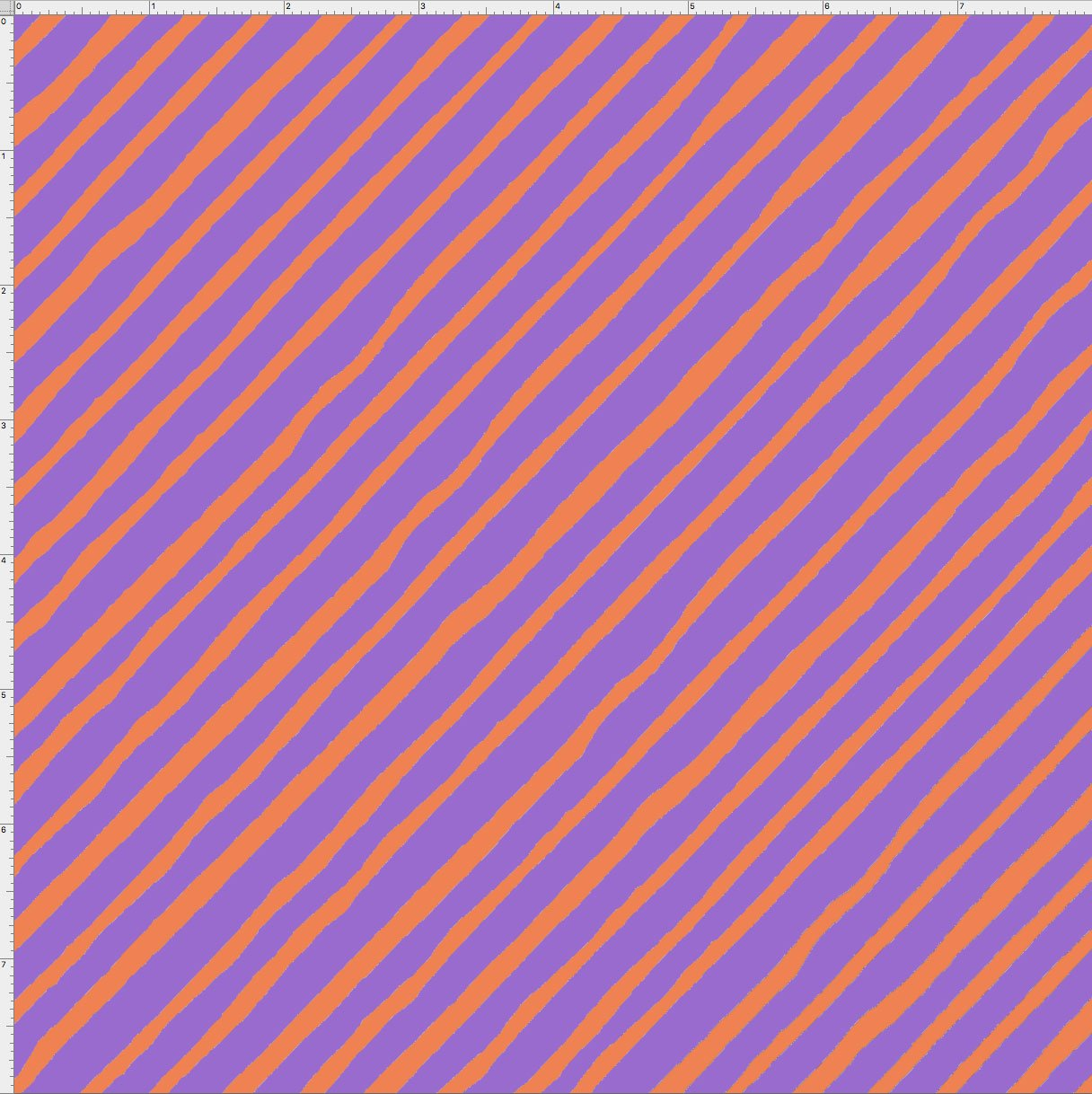 【Loralie Designs】 - Bias Stripe Purple / Orange - (ULH-137)