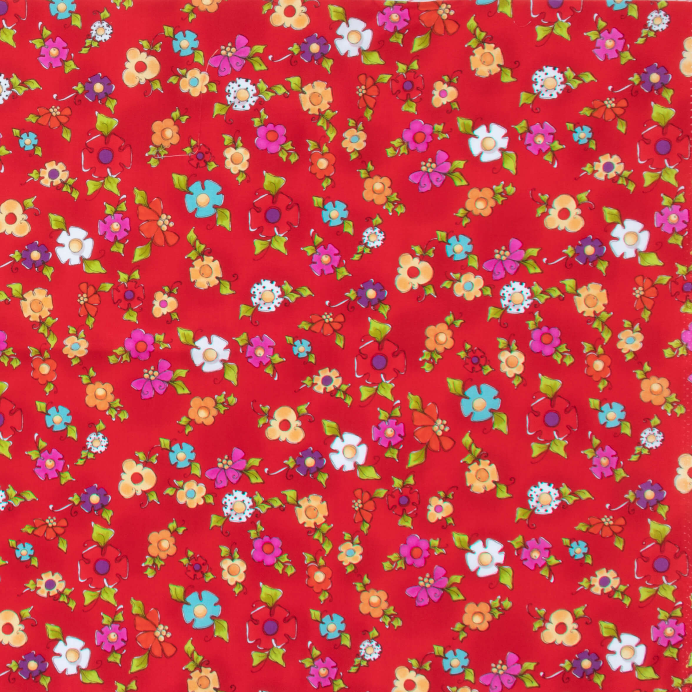 【Loralie Designs】 -Happy Blooms Red Fabric- (ULH-143)