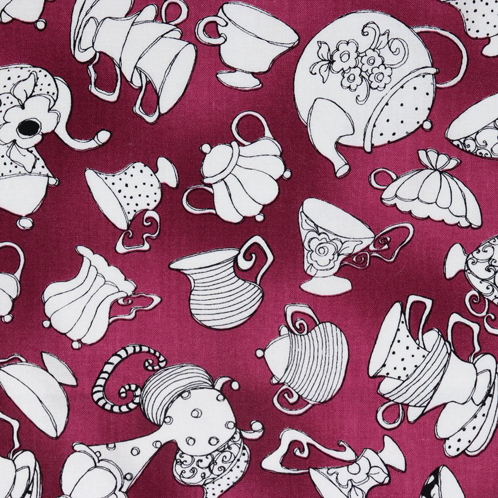 【Loralie Designs】- Tea Party Purple Fabric -(ULH-166)