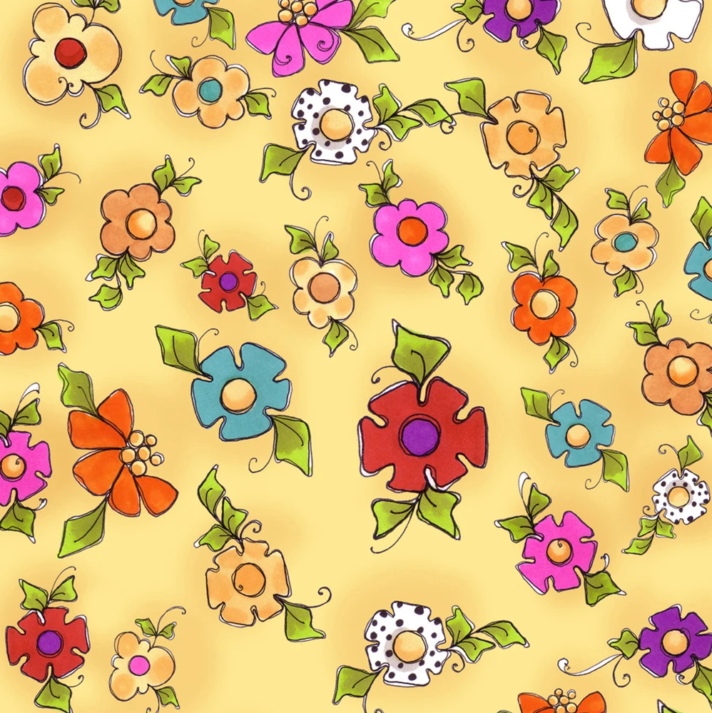 【Loralie Designs】- Happy Blooms Yellow(ULH-337)
