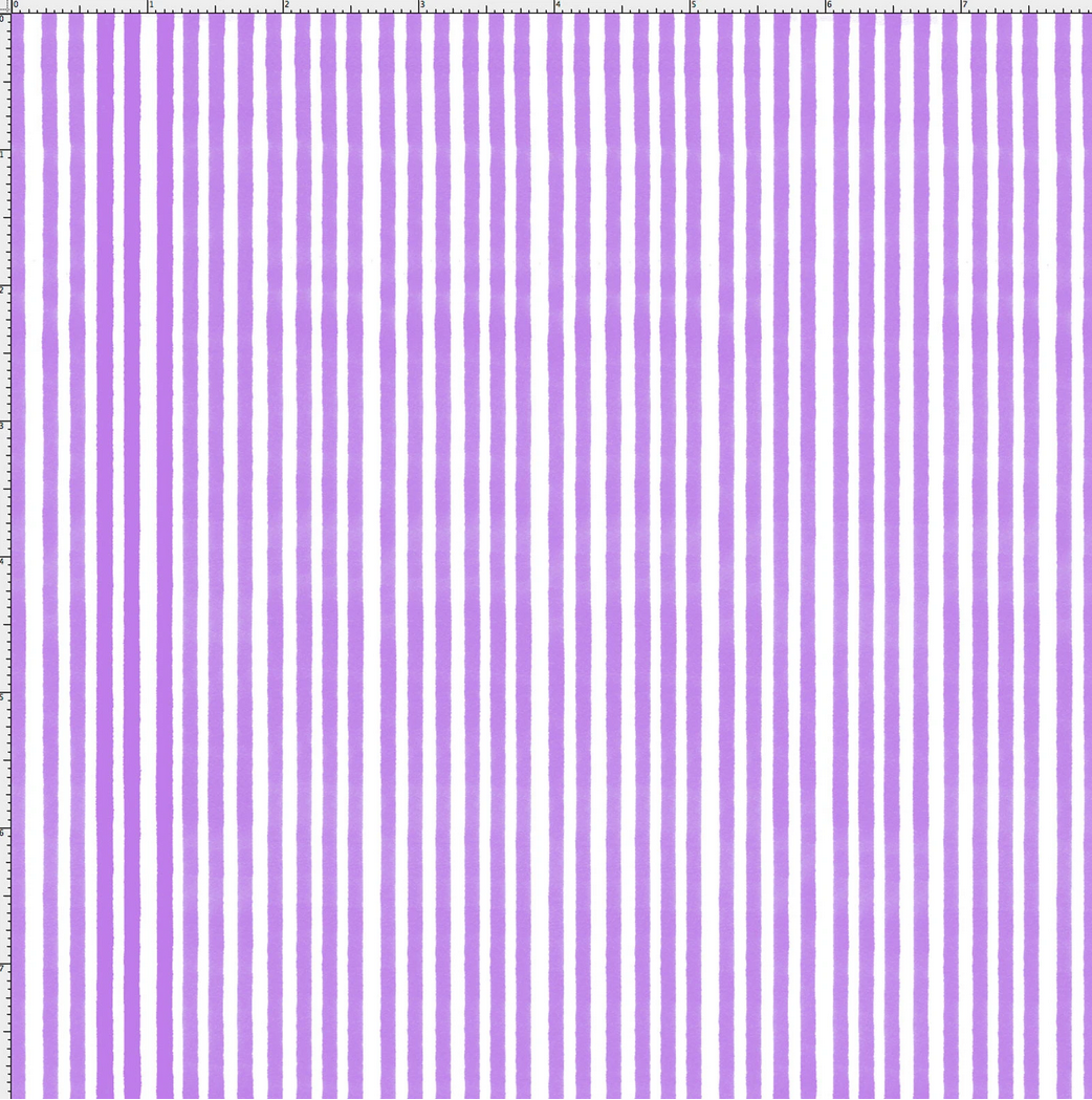 【Loralie Designs】- Lazy Stripe Purple / White Fabric  (ULH-346)