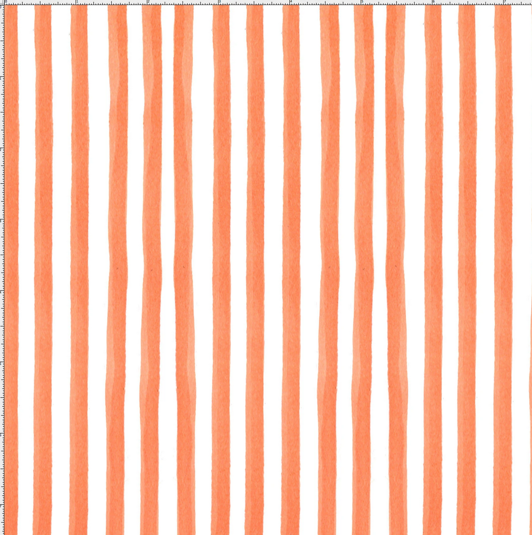 【Loralie Designs】- Gulf Stripe Orange Fabric  (ULH-347)