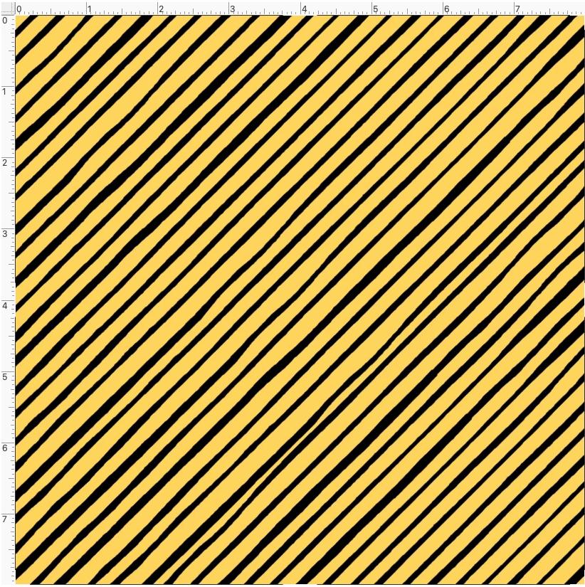 【Loralie Designs】- Quirky Bias Stripe Yellow-(ULH-395)