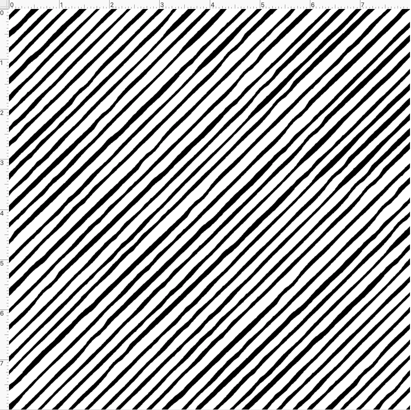 【Loralie Designs】- Quirky Bias Stripe White-(ULH-396)
