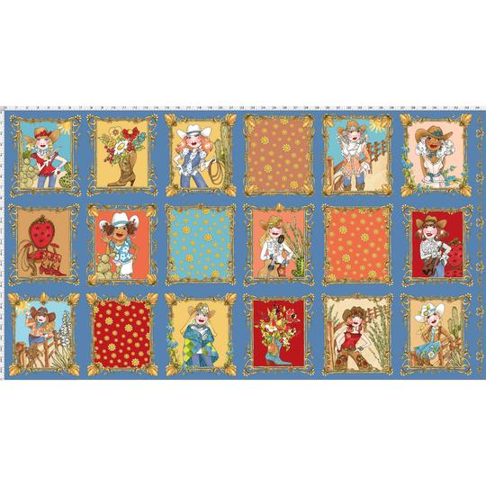 【Loralie Designs】-Whoa! Girl Fabric Panel Blue- 60x110cm (ULH-170)