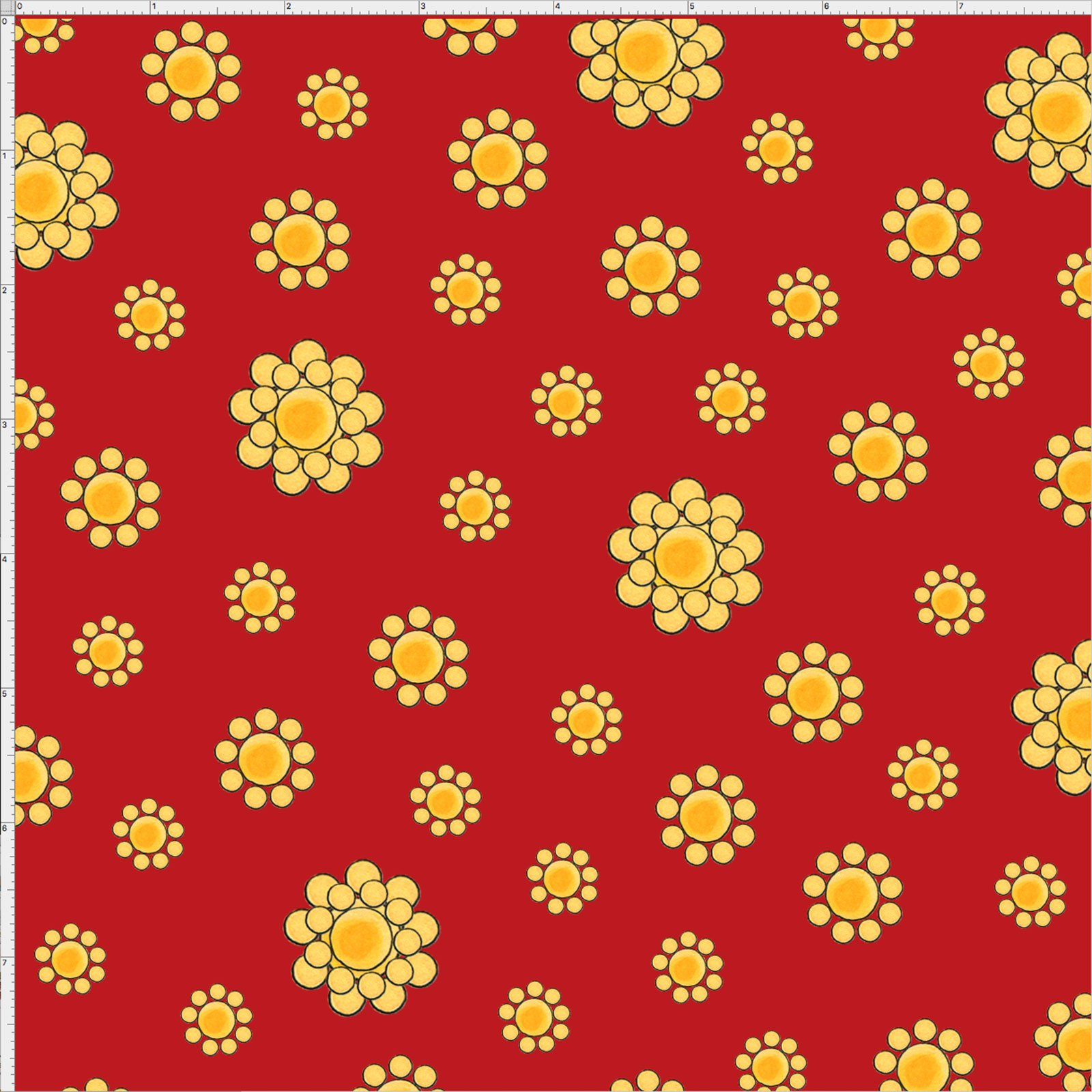 【Loralie Designs】- Bandana Dots Red Fabric-(ULH-178)