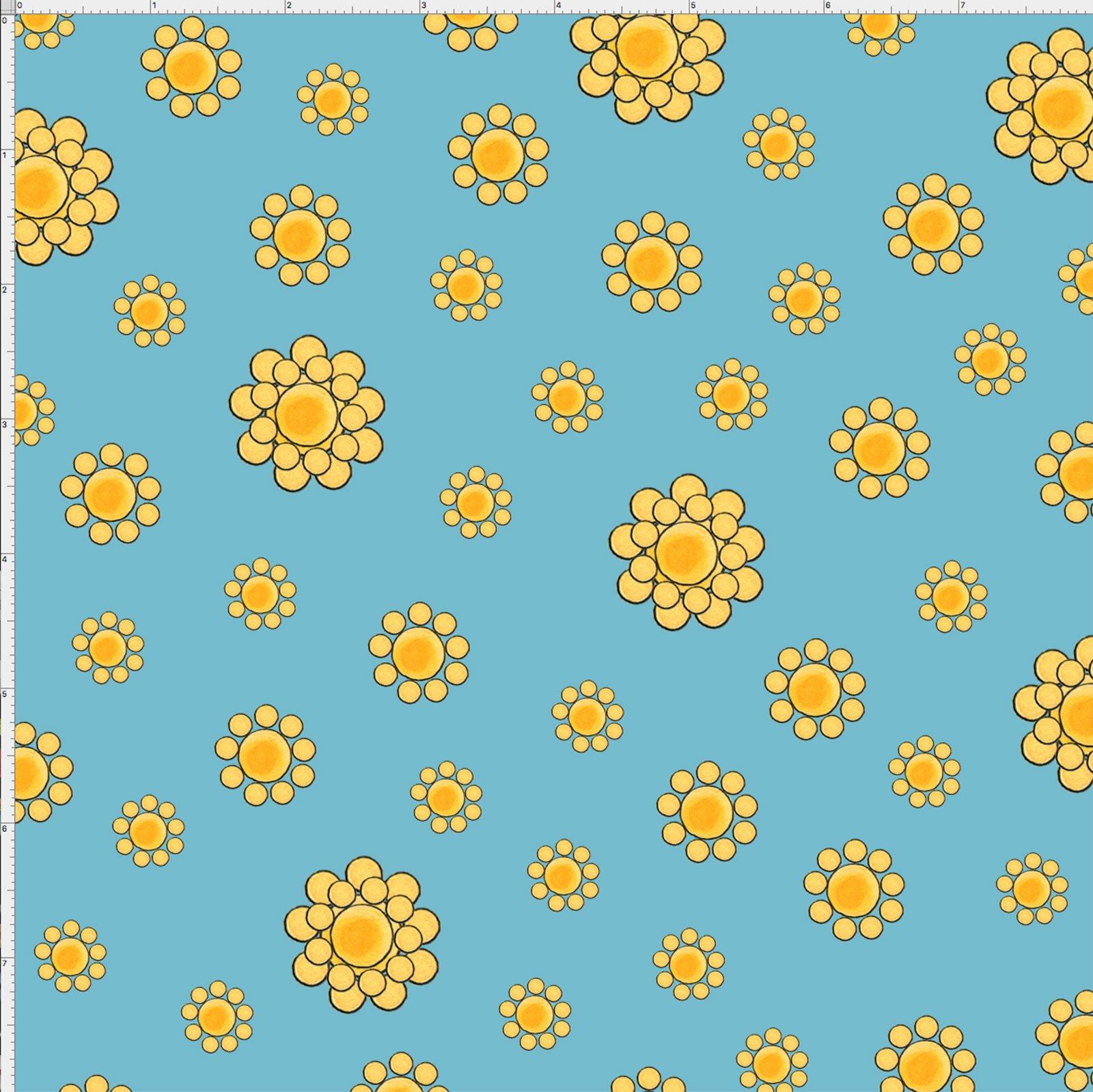 【Loralie Designs】- Bandana Dots Turquoise(ターコイズ) Fabric -(ULH-179)