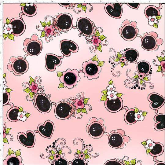 【Loralie Designs】- Tossed Shades Pink Fabric-(ULH-198)