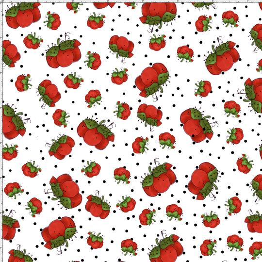 【Loralie Designs】-Pin Dots White Fabric-(ULH-203)