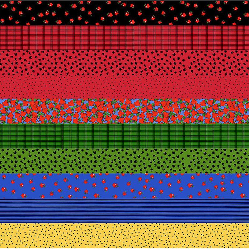 【Loralie Designs】Medley Cool School Strip Fabric Panel(ULH-245)
