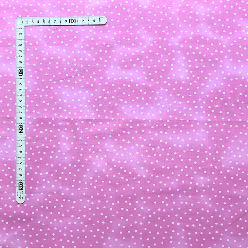 【Loralie Designs】-Dinky Dots  Pink/White むら染め加工(ULH-296)