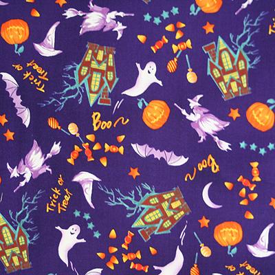 【国産】Halloween柄 50x55cm (JHW-006)
