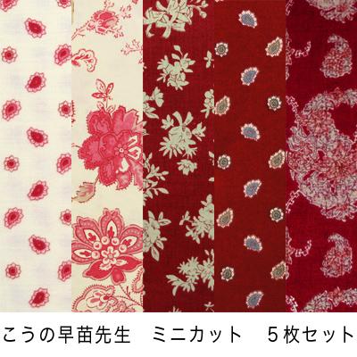 【こうの早苗先生デザインプリント】33x37cm 5枚セット (JKNS-064)