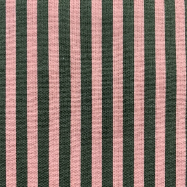 【ストライプ柄】(JOT-181)50×55cm  ピンク/ダークブラウン