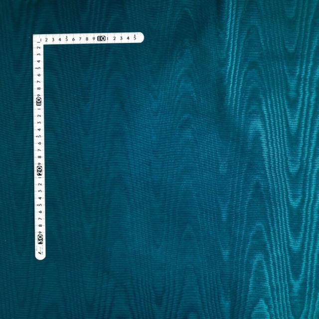 【モアレ】ピーコックブルー/濃青緑 綿64% ポリエステル36% (MO-001)