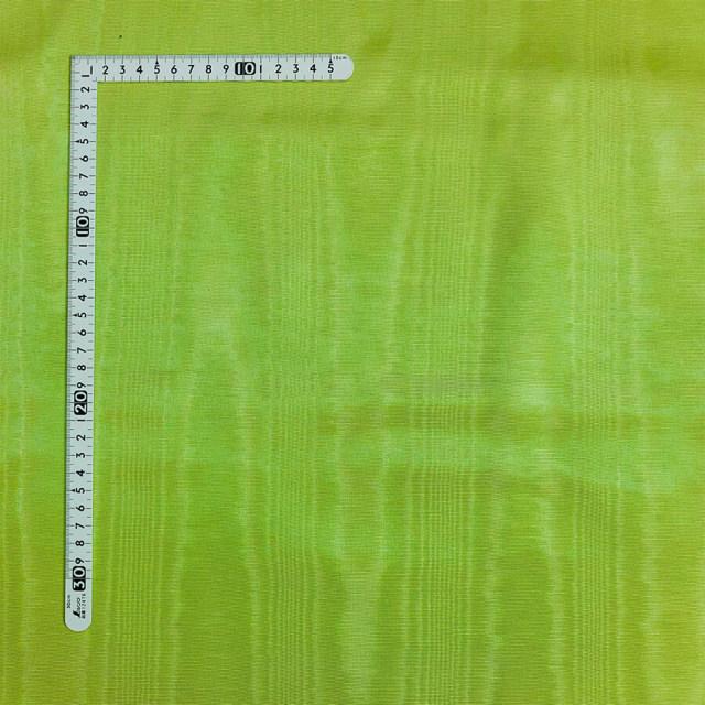 【モアレ】黄緑 ポリエステル100%(MO-003)