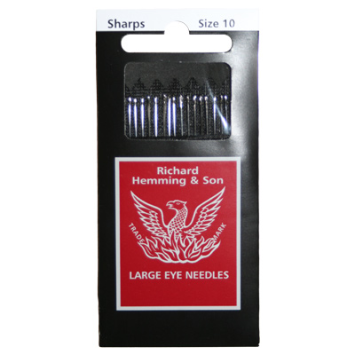 【Richard Hemming & Son】Large Eye Needles - 縫い針 (size 10) 20本入り - (NOT-144)