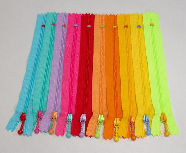 【ポーチ用カラーファスナー】10色・20cm・14cmのバリエーション