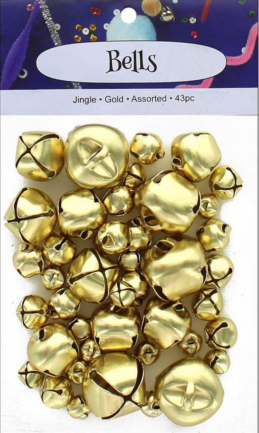 BELLS  大中小極小 ゴールドベル 計43個(NOT-229)