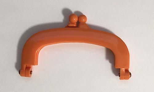 【プラスチック口金】10cm×6cm オレンジ(NOT-209)